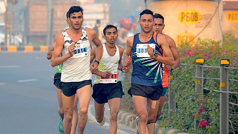File photo of Marathon runners.