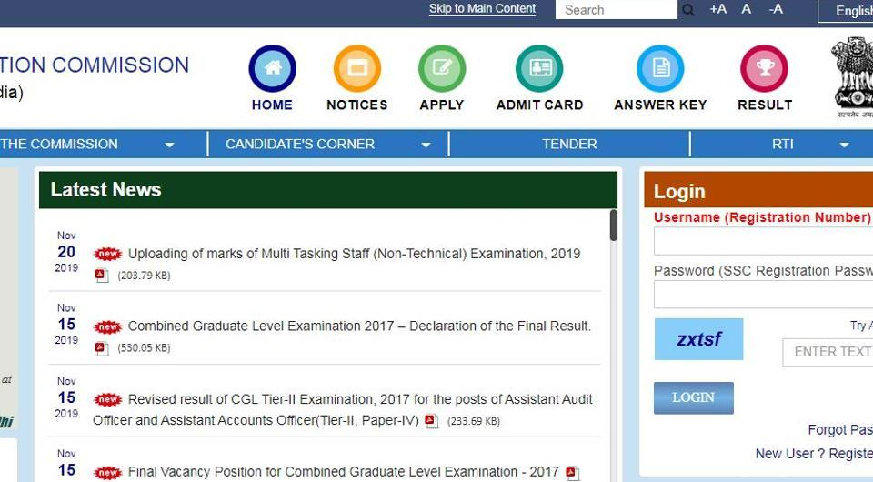 SSC MTS Paper 1 marks 2019: Staff Selection Commission (SSC) has released the marks of candidates who had appeared for multi-tasking staff (MTS) paper 1 examination.