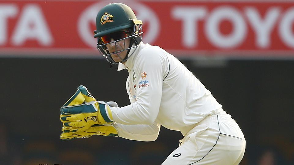 Australia skipper Tim Paine in action during Brisbane Test.