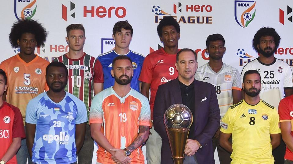 New Delhi: Indian football team coach Igor Stimac along with 11 team members.