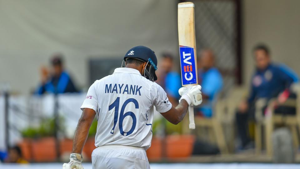 Indian batsman Mayank Agarwal