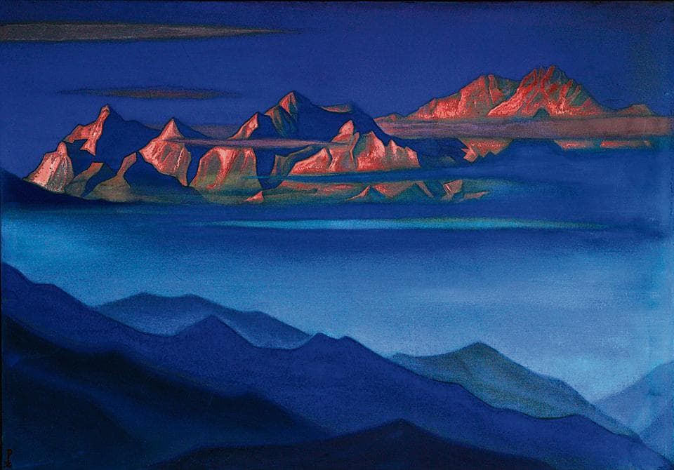 Kanchenjunga (1944) by Nicholas Roerich.