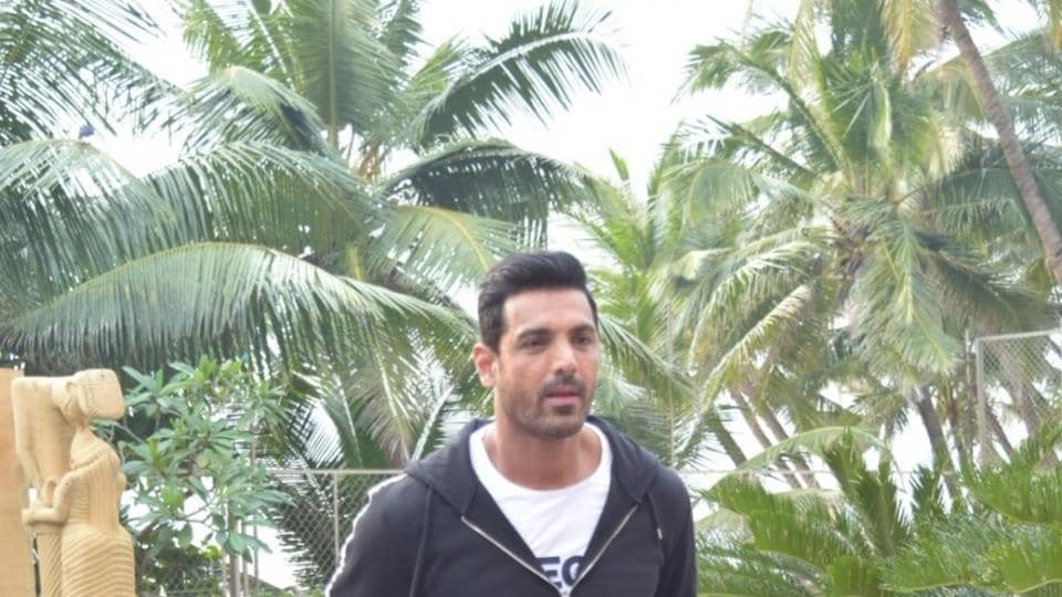 John Abraham during the promotions of Pagalpanti.