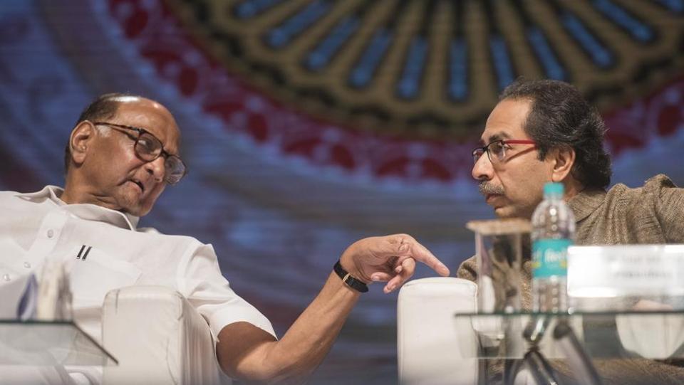 President of NCP Sharad Pawar and Shiv Sena chief Uddhav Thackeray