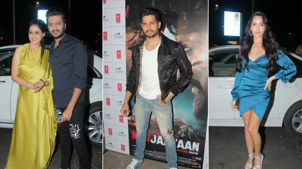 The Marjaavaan success bash was attended by Sidharth Malhotra, Riteish Deshmukh and Nora Fatehi, among others.