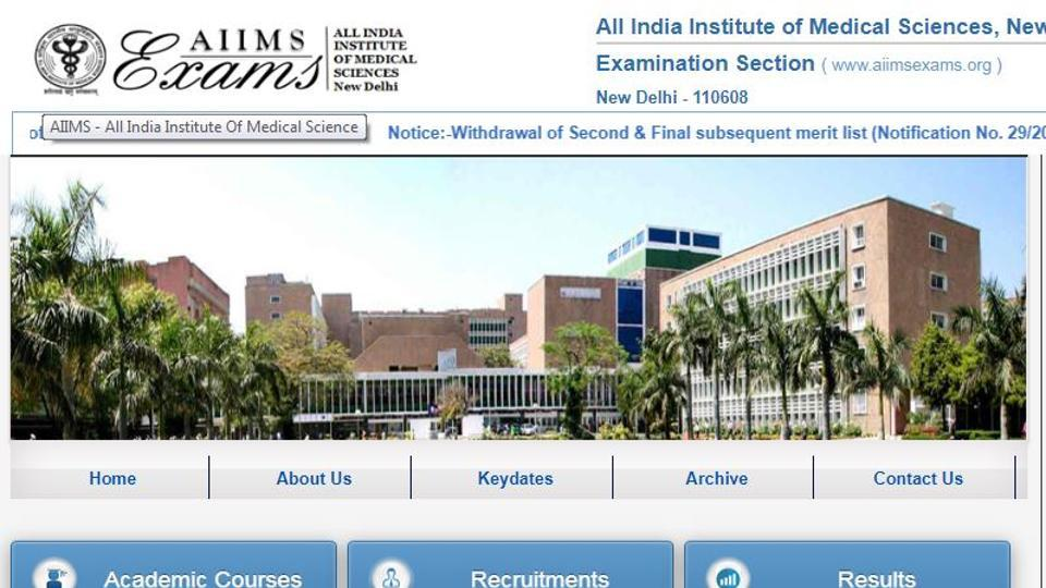 AIIMS PG Result : All India Institute of Medical Sciences (AIIMS) New Delhi is expected to declare the results of entrance test for Post Graduate Courses for January 2020 session on Friday, November 22.