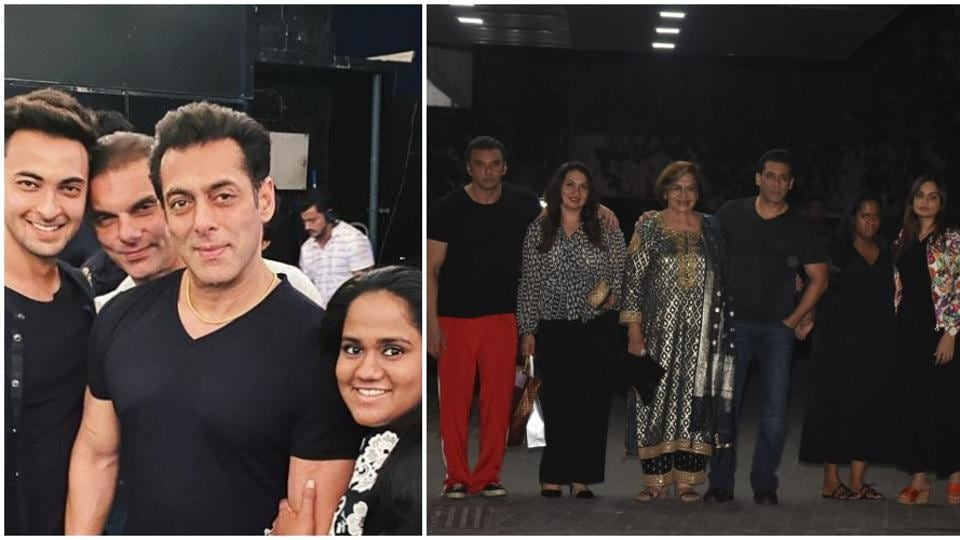 Salman Khan celebrated Helen's birthday with family.