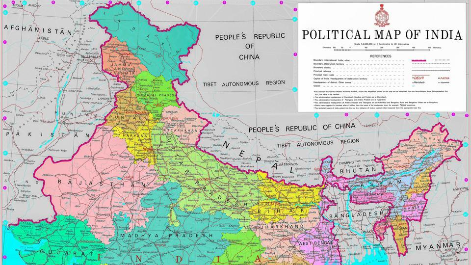The Survey of India released the redrawn political map of India earlier this month, depicting the newly formed Union Territories of Kashmir and Ladakh. The map mentioned Hyderabad as the administrative capital of Andhra Pradesh.