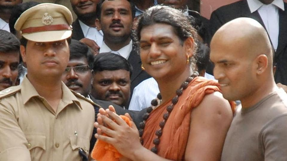 Gujarat police are on the hunt to locate the controversial self-styled godman Nithyananda
