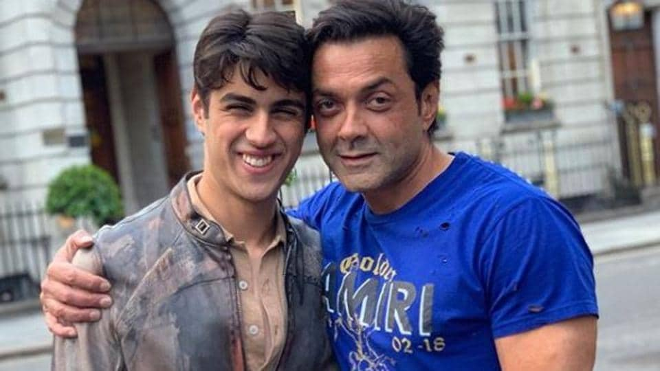 Bobby Deol poses with son Aryaman.