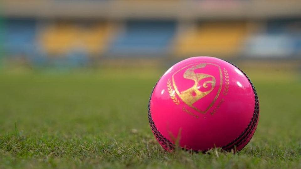 A file photo of the pink ball.