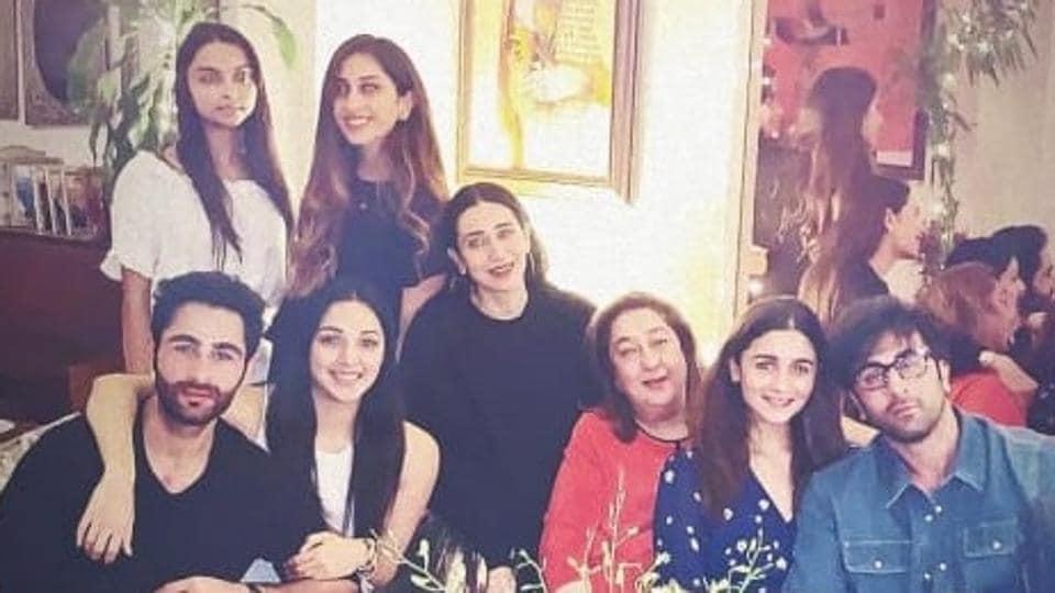 Alia Bhatt joined boyfriend Ranbir Kapoor's family in celebrating Armaan Jain's birthday.