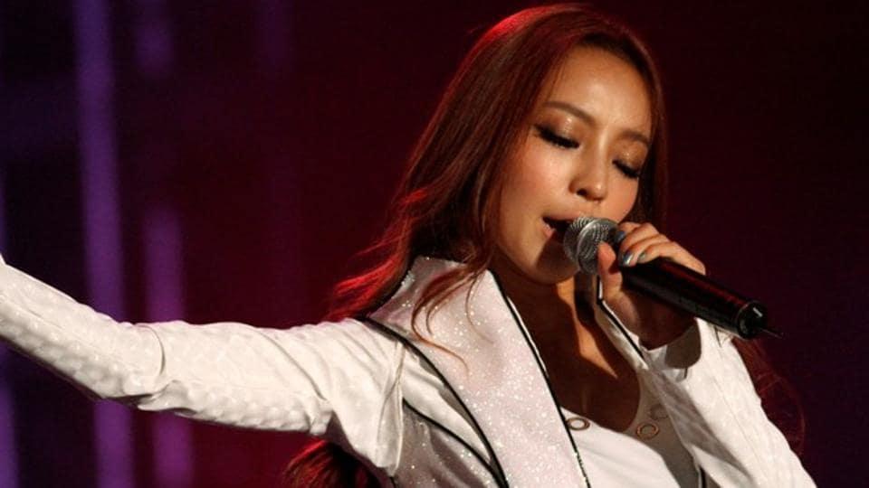 Goo Hara, a member of South Korean idol group KARA, performs during the 2010 Asia Song Festival in Seoul October 23, 2010.