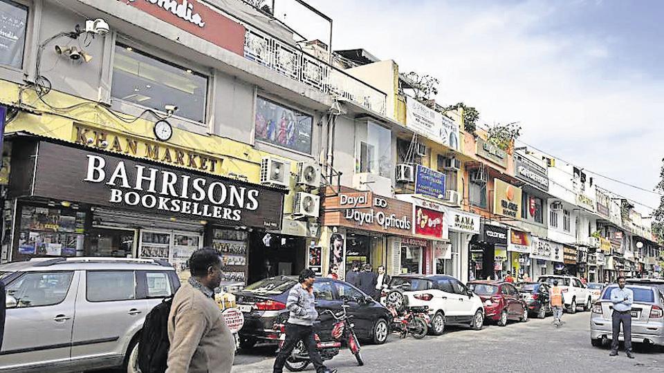 A view of Khan Market in New Delhi.
