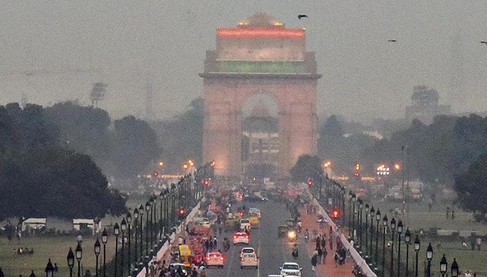 Delhi's air quality on Monday dipped marginally on Monday, settling in the 'poor' category.