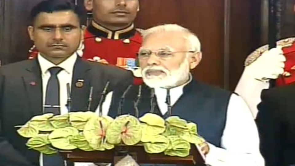 Prime Minister Narendra Modi addressing a joint sitting of Parliament to mark the Constitution Day.