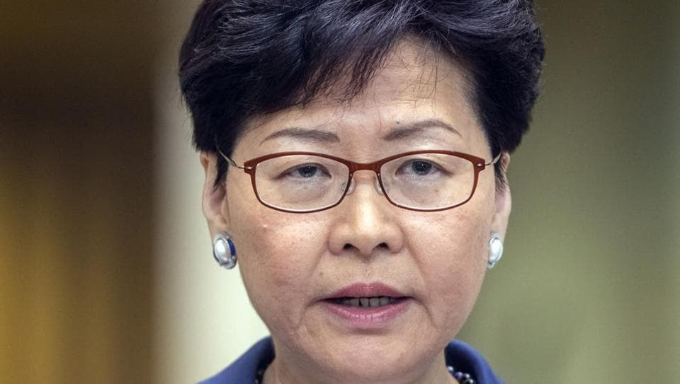 Hong Kong leader Carrie Lam.