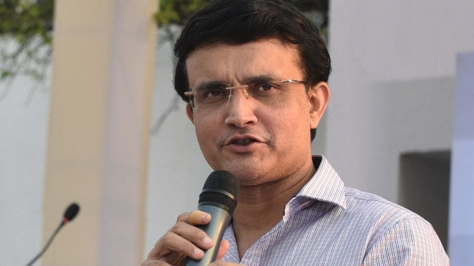 A file photo of BCCIPresident Sourav Ganguly.