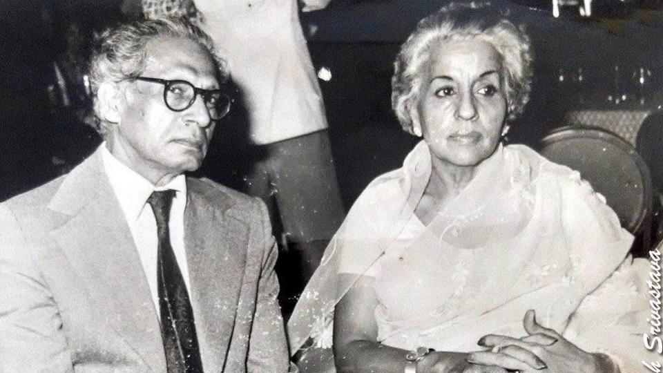 Abhishek Bachchan has shared a picture of Harivansh Rai Bachchan on his birth anniversary.