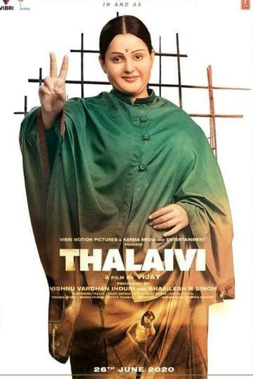 Kangana Ranaut in and as Jayalalithaa.