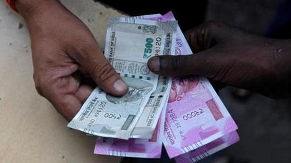 Indian rupee appreciated by 10 paise to 71.40 against the US dollar.