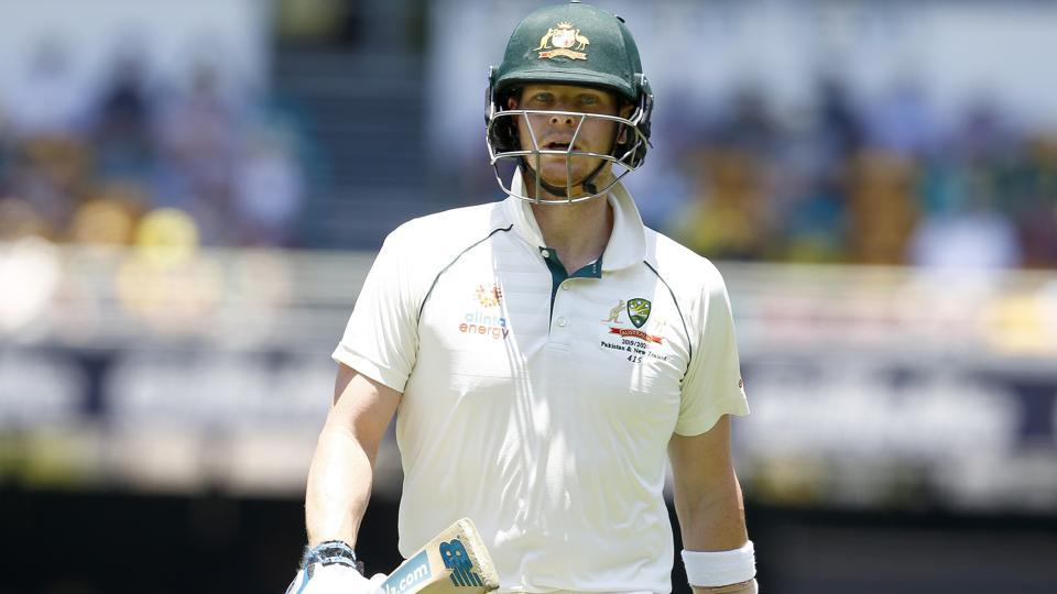 Australia's Steve Smith walks off the field