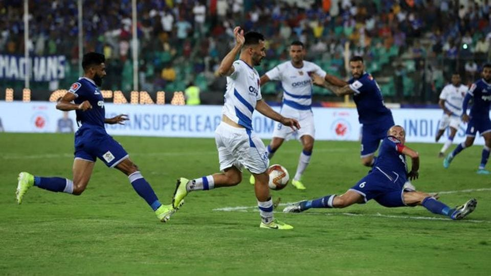 Chennaiyin FC and Odisha FC shared the spoils after a thrilling Hero Indian Super League encounter finished 2-2.