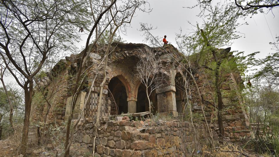 The ruins of Malcha Mahal after almost two years of the death of its last inhabitant, the self-proclaimed, Prince Ali Raza. Raza, 58, died on September 2, 2017 following a brief illness. It came to be known as Wilayat Mahal after Begum Wilayat Mahal of Awadh who was reportedly given the place by the government of India in May 1985.