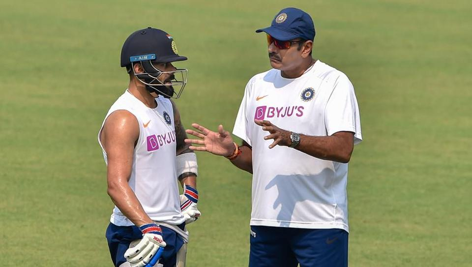 Indian captain Virat Kohli with head coach Ravi Shastri