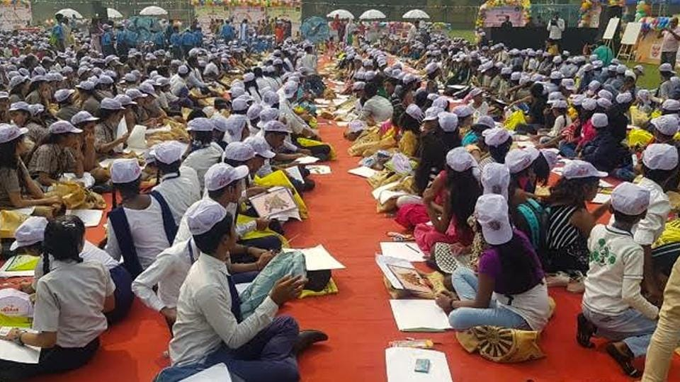 Over 3500 underprivileged children participating in the event.