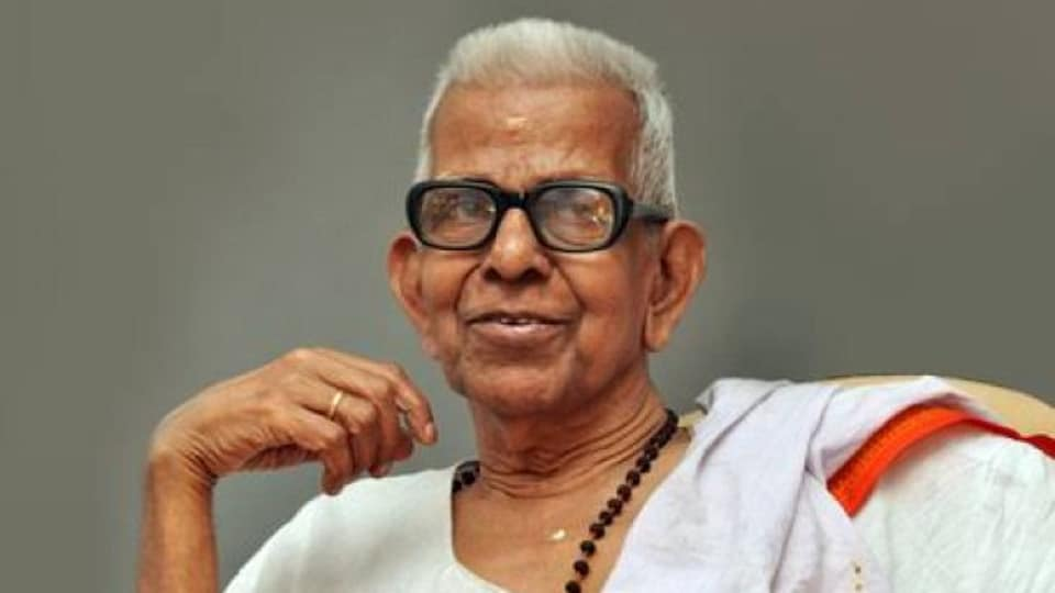 Akkitham has authored 55 books out of which 45 are collections of poems.