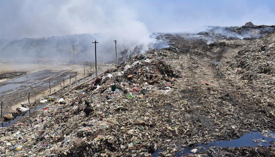 Over 24 lakh metric tonnes of garbage has accumulated at the main dump site on the Tejpur Road in Ludhiana and fire incidents are common at the site.