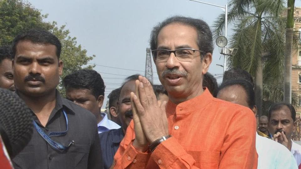 Maharashtra Chief Minister Uddhav Thackeray after paying tribute to martyrs at Hutatma Chowk (Martyrs' Square), in South Mumbai