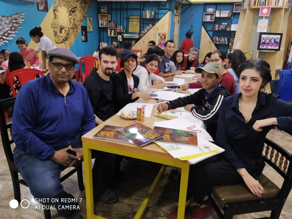 'Priya and the Lost Girls' was launched at the Sheroes' Hangout Café, Agra, on Saturday.