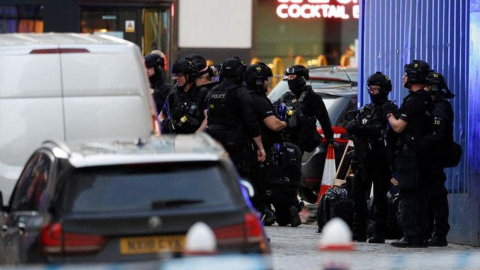 Police officers are seen near the site of an incident at London Bridge in London, Britain, November 29, 2019.