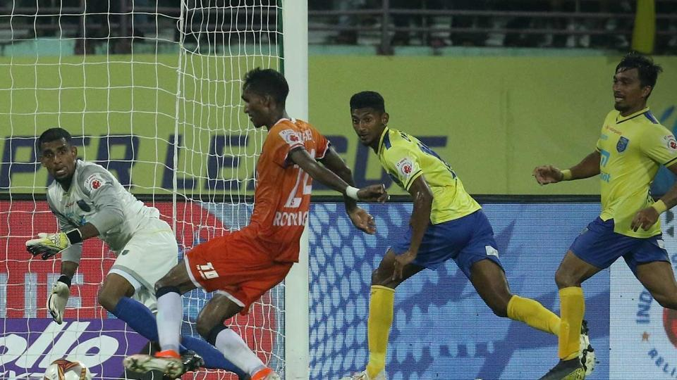 FCGoa and Kerala Blasters played a draw.