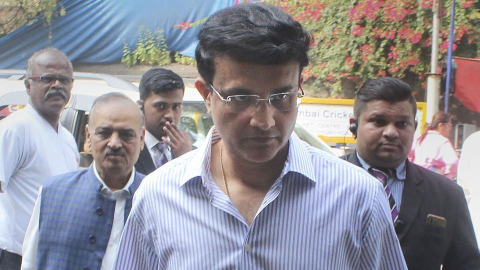 Board of Control for Cricket in India (BCCI) president Sourav Ganguly arrives at the office in Mumbai.