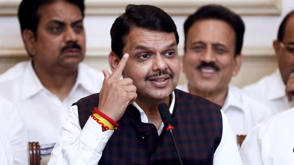 Bharatiya Janata Party (BJP) leader Devendra Fadnavis speaks during a press conference after announcing his resignation as Maharashtra chief minister in Mumbai on November 26, 2019.