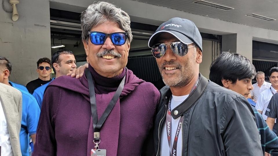 Kapil Dev and RaviKrishnan at theX1 Racing League.