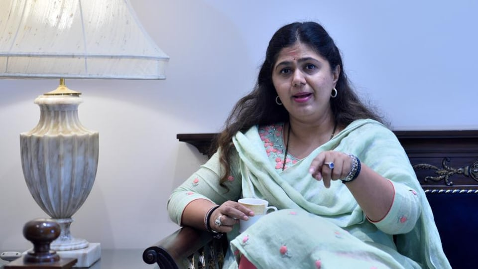 Former minister and BJP leader Pankaja Munde has said that in the changed political scenario, the future course of action needs to be decided.(Satish Bate/HT Photo)