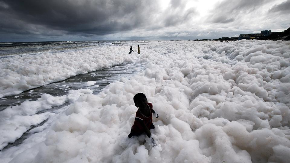 "The Tamil Nadu Pollution Control Board said it is analysing samples from the foam which has spread several kilometres along the beach. ""It is definitely not good for people to go into the foam but they just do not understand the risks,"" said Pravakar Mishra, a scientist at the National Centre for Coastal Research in Chennai who has seen the clouds of foam grow in recent years. (ANI)"