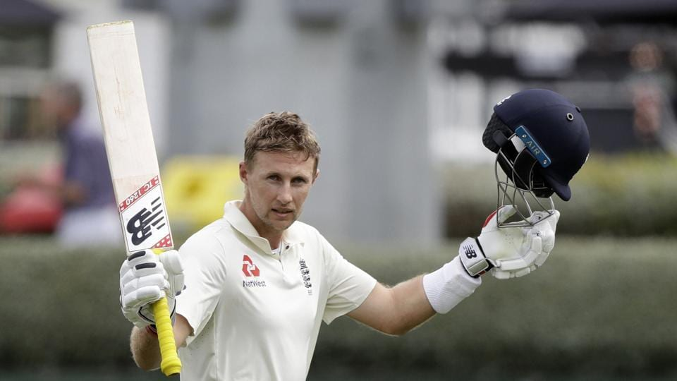 England's Joe Root waves to the crowd as he leaves the field after he was dismissed for 226 runs during play on day four of the second cricket test between England and New Zealand at Seddon Park in Hamilton, New Zealand.
