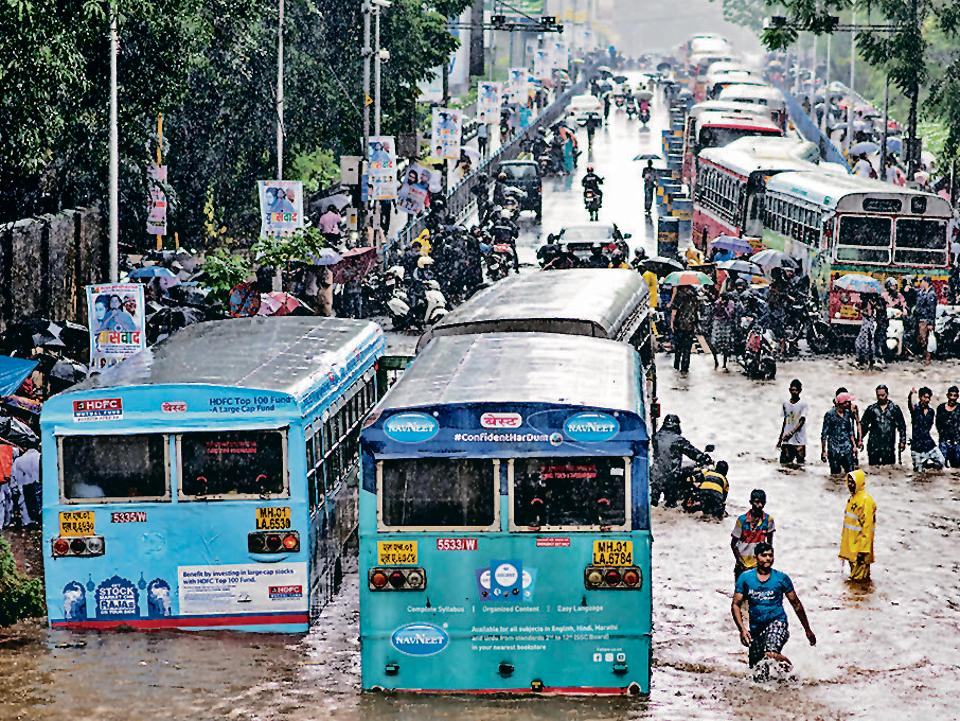 Nature strikes back:Floods in Dadar TT circle in Mumbai on September 4, 2019.