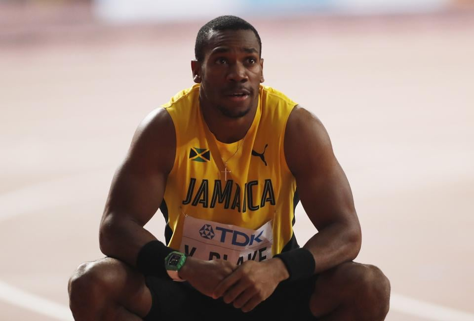 Jamaica's Yohan Blake during the 2019 World Athletics Championships.