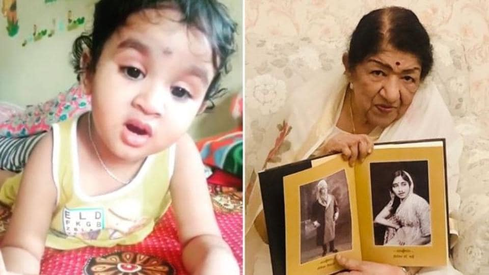 Lata Mangeshkar's song Lag Ja Gale has been sung by a toddler and video has since gone viral.