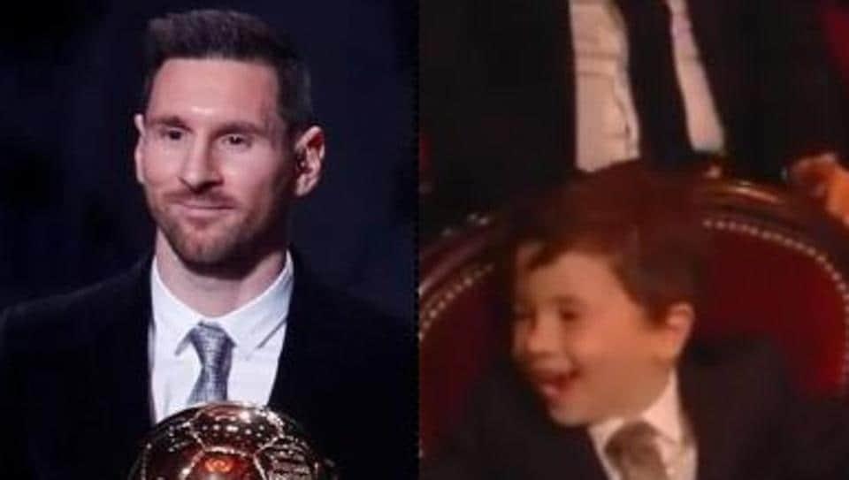 Lionel Messi and son Mateo.