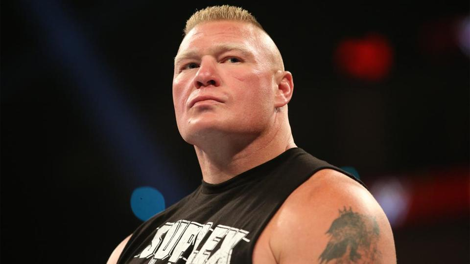 A file photo of WWE Universal champion Brock Lesnar.