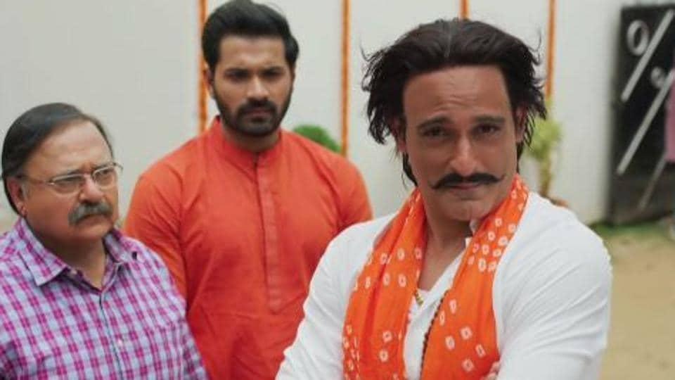 Akshaye Khanna in a still from the Sab Kushal Mangal trailer.