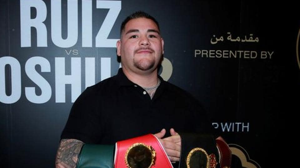 Andy Ruiz Jr poses for a photograph