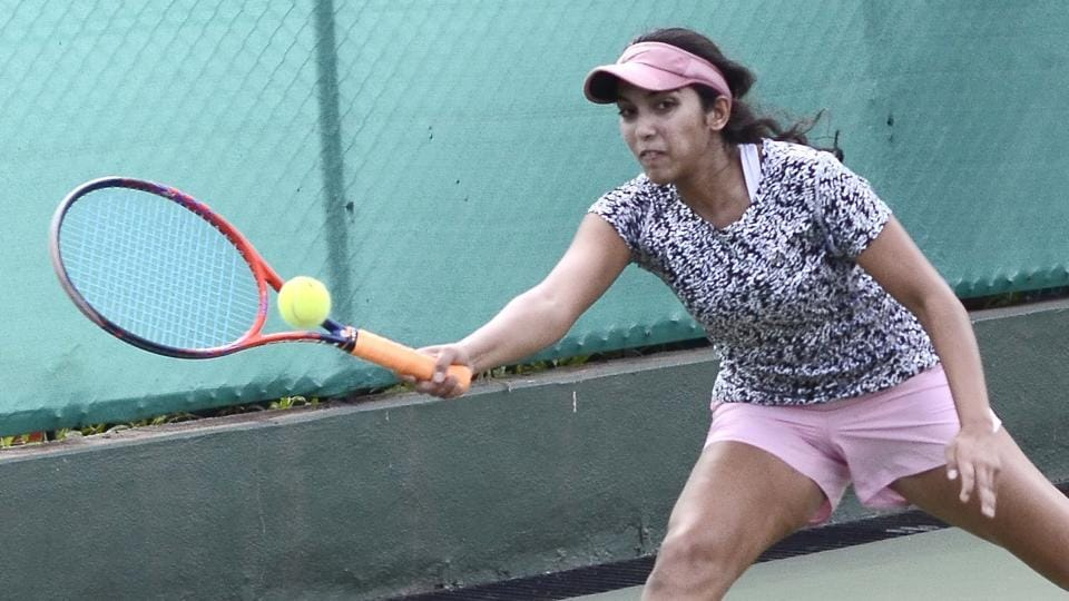 India's Bhakti Parwani fought back in the initial stages of the second set, but lost 6-0, 6-2 to the Russian opponent during the MSLTA-ITF Junior Grade 3 U-18 tennis championship played at the Deccan Gymkhana tennis courts on Monday.
